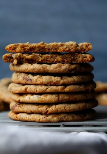 Butterfinger Cookies stacked