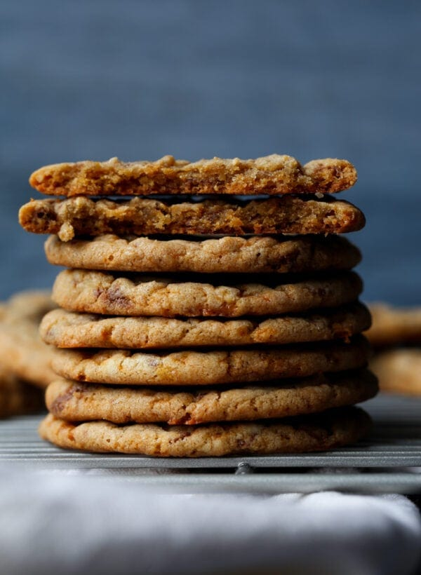 Butterfinger Cookies are crispy on the outside chewy on the inside