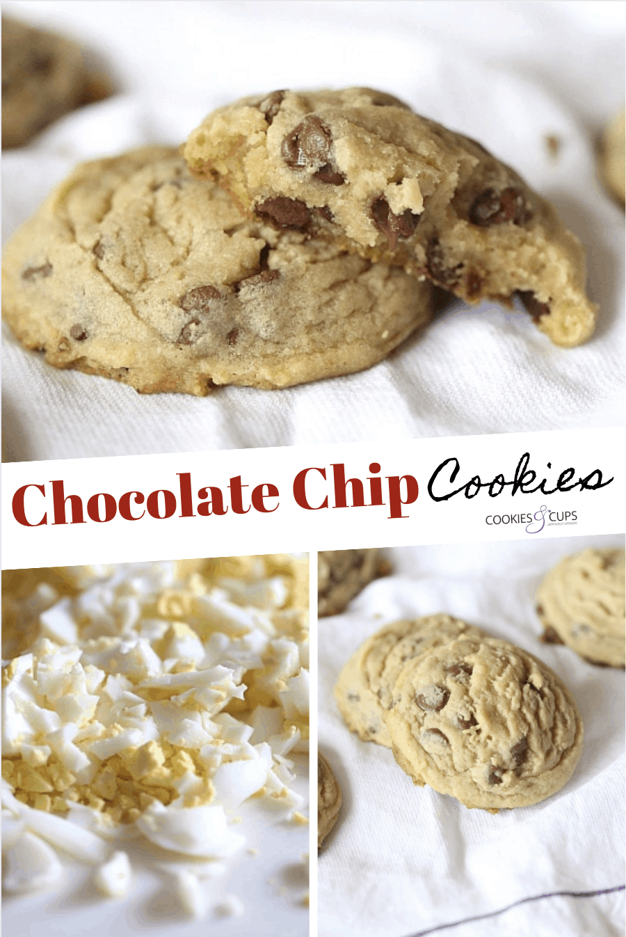 Pinterest Image for chocolate chip cookies