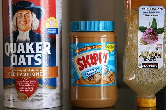3 Ingredients for No Bake Peanut Butter Oat Squares