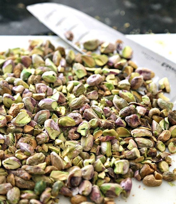 Chopped Pistachios for Pistachio Pudding Cookies!