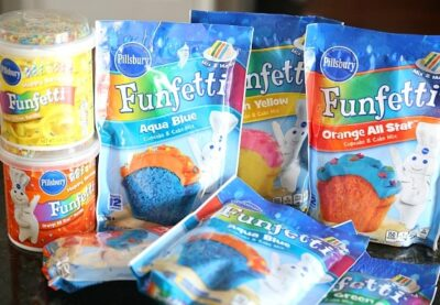 Funfetti Tye Dyed Cookie Bars...simple cookie bars that are made with cake mix!