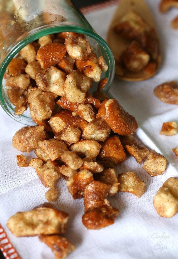Cinnamon Sugar Pretzels...these are so simple!