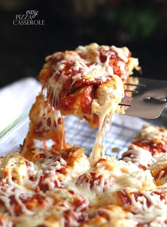 Easy Pizza Casserole The Best Casserole Recipe