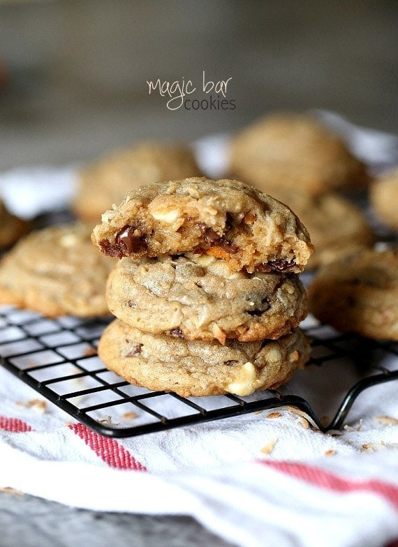 Magic Bar Cookies.. A simple twist on the classic Magic Bar. Easy, full of chips and coconut. You'll LOVE these!