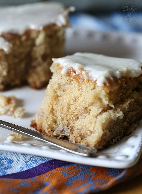 Dr. Bird Cake...A southern cake loaded with banana and pineapple with a buttery glaze!