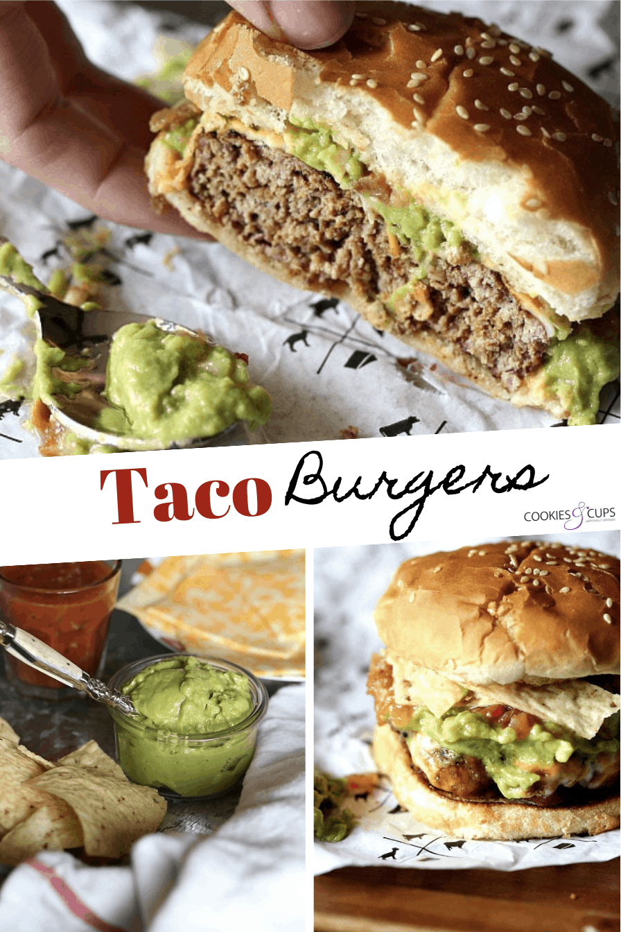 Pinterest Image for Taco Burgers