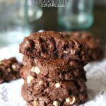Death By Chocolate Chip Cookies ~ Thick and soft chocolate cookies with 3 kinds of chocolate!
