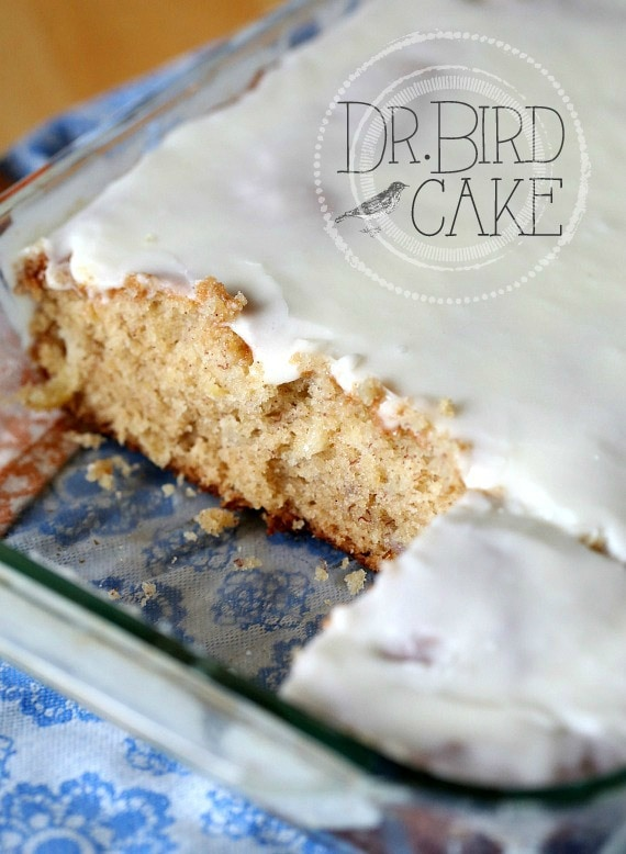 Dr. Bird Cake ~  A Fun Nostalgic Cake typical of something your Grandma would make!