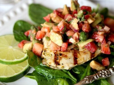 Grilled Lime Chicken with Strawberry Avocado Salsa