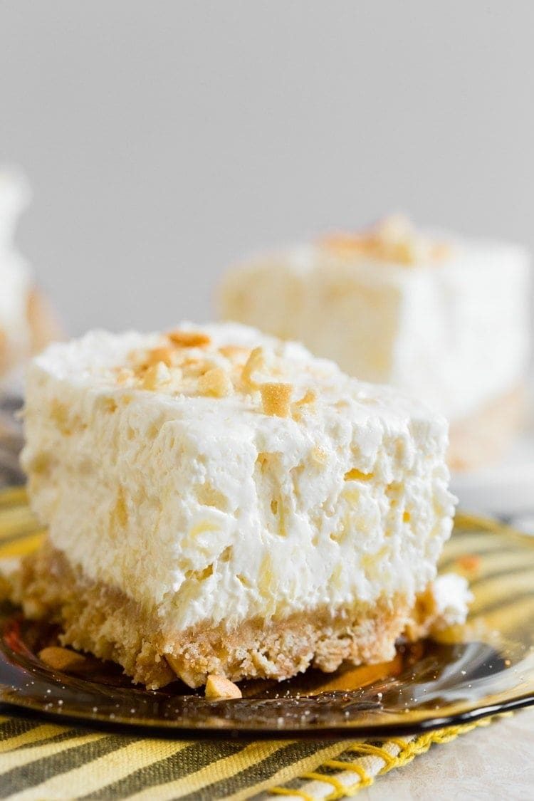 Creamy Potluck Cheesecake Dessert is a no bake cheesecake recipe