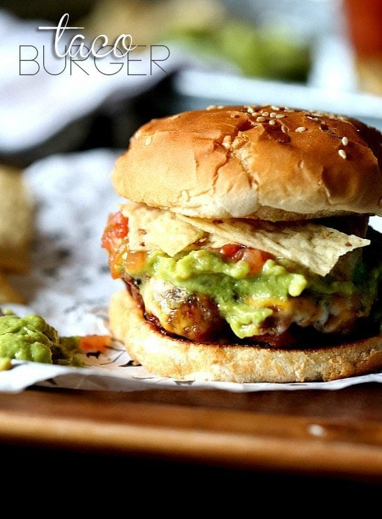 Taco Burgers - Cookies and Cups