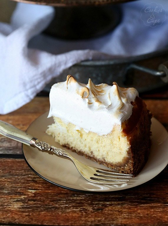 A Perfect Slice of Lemon Meringue Cheesecake