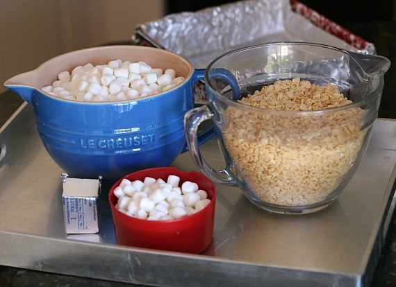 INgredients for the perfect krispie treat!