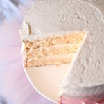 Image of a Pink Lemonade Chiffon Cake Minus a Few Slices