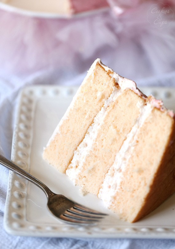 Pink Lemonade Chiffon Cake Slice