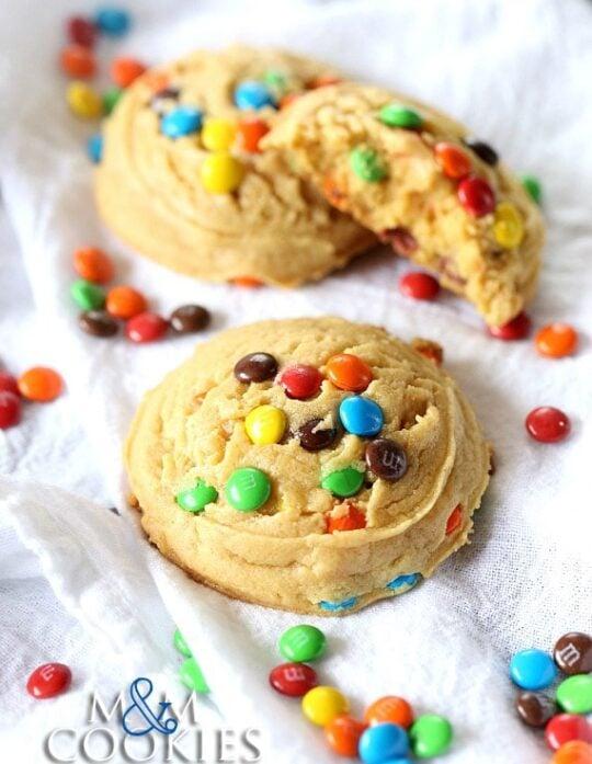 The Best M&M Cookies Recipe is easy