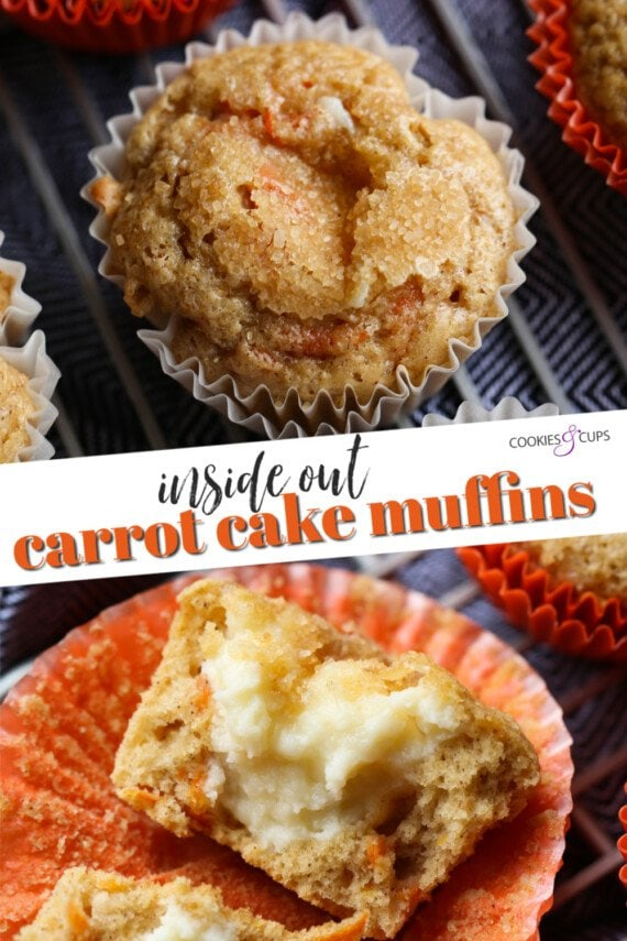Inside Out Carrot Cake Muffins Pinterest Image