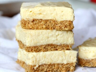 Lightened Up No Bake Lemon Ice Box Bars! So good and super simple!