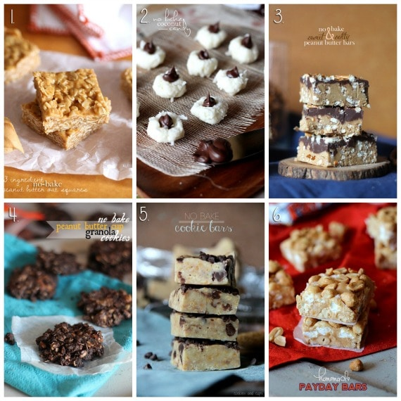 No Bake Dessert Round up from Cookies and Cups