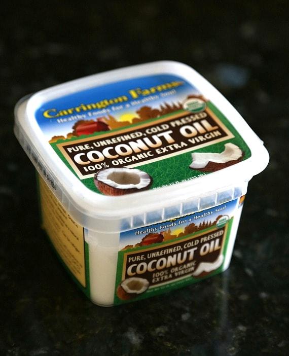 Unrefined, cold pressed coconut oil