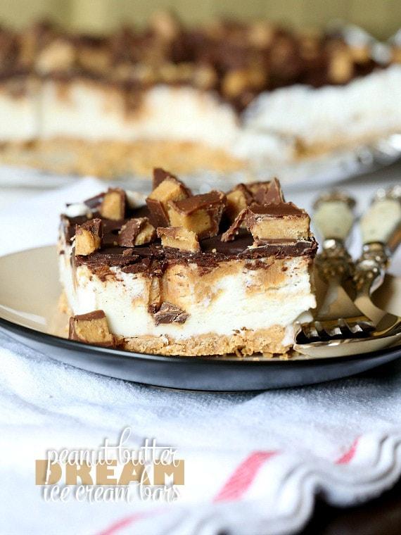 Peanut Butter Dream Ice Cream Bars...so simple to whip up, super delicious and everyone will love them!
