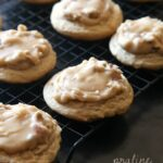 Praline Cookies...Super oft brown sugar cookies topped with Praline Frosting that melts right into the cookie! So delicious!!