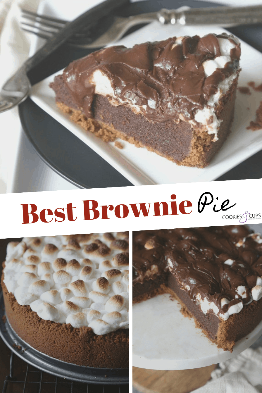 Pinterest Image for Brownie Pie