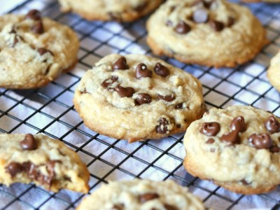 Super soft chocolate chocoalte chip cookies....made with coconut oil and shredded coconut, these are my FAVORITE cookies!
