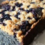 Blueberry Cobbler Bread.. A soft, delicious quick bread that is LOADED with blueberries and topped with a delicious crumble/cobbler topping!