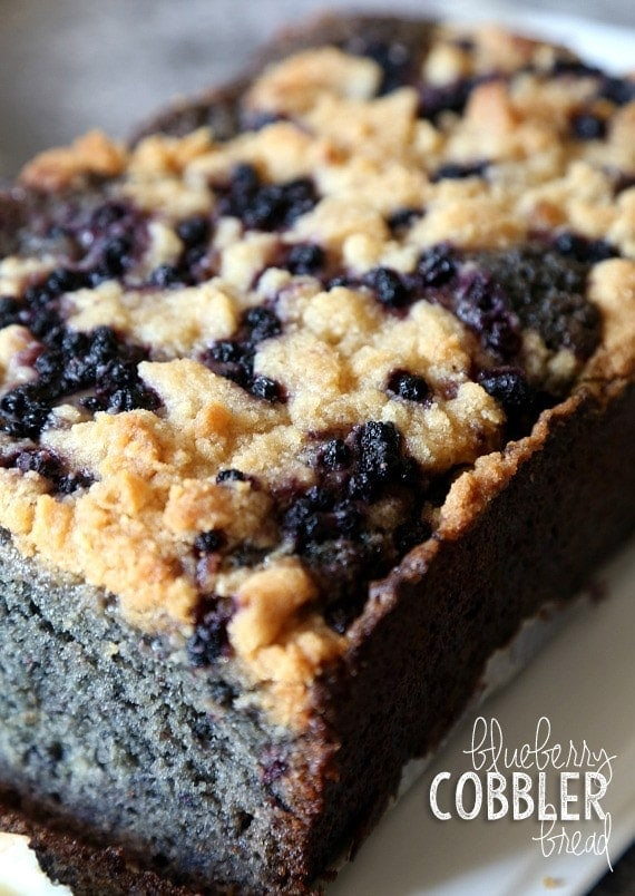 Blueberry Cobbler Bread | A Simple Fresh Fruit Baked Dessert