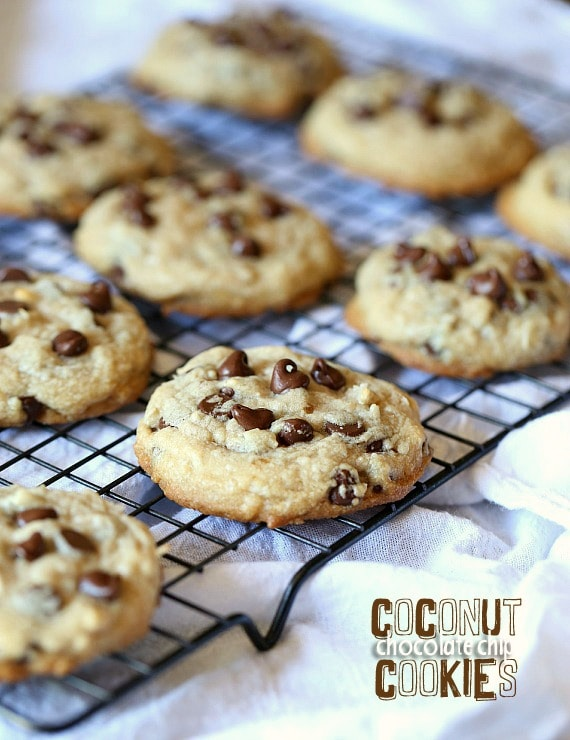 Coconut Chocolate Chip Cookies...delicious chocolate chip cookies made ...