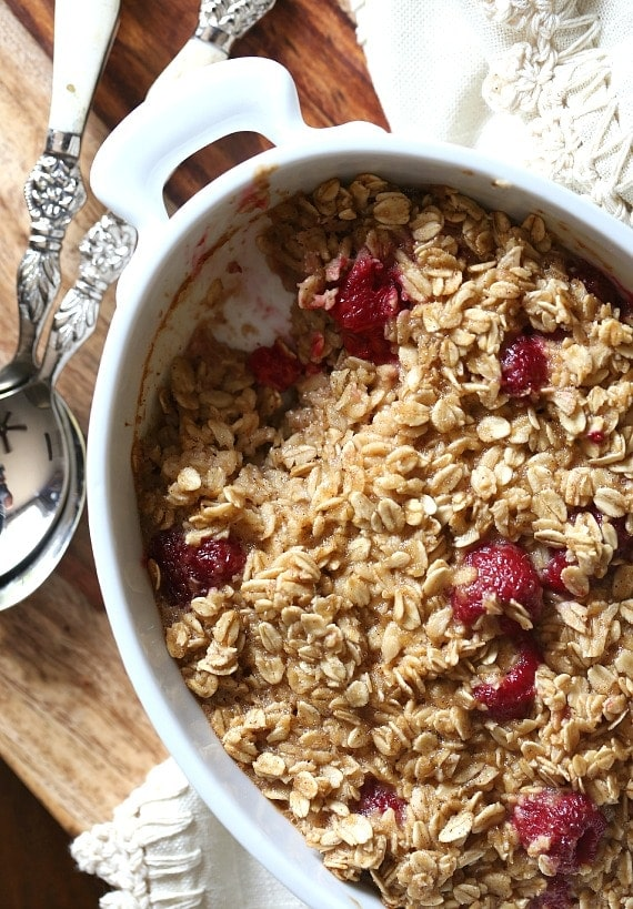 Baked Raspberry Oatmeal from Seriously Delish...SO good!