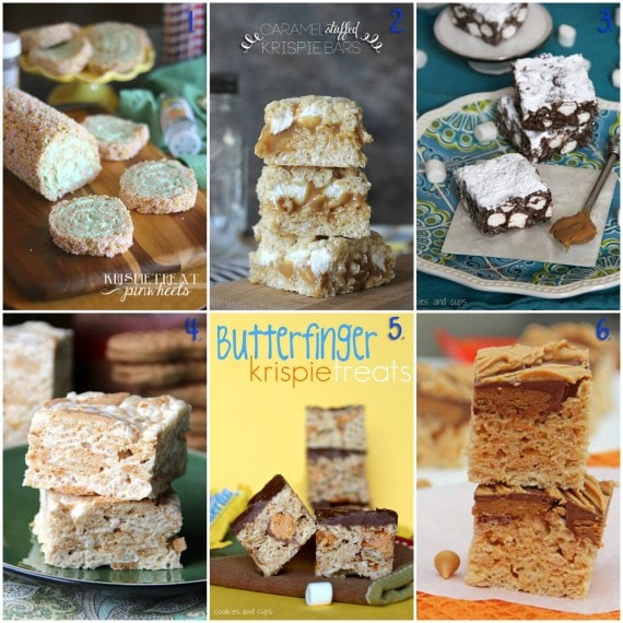 20 + Recipes for Rice Krispie Treats from Cookies & Cups