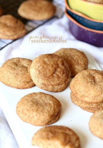 Pumpkin SPice Snickerdoodles.. Fall in a cookie!