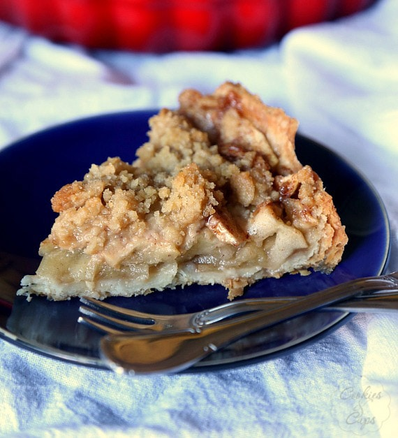 Cookies and Cups Simple Apple Crumble Tart - Cookies and Cups