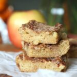 Chunky Apple Snickerdoodles...a soft, buttery bar loaded with apples and cinnamon sugar!