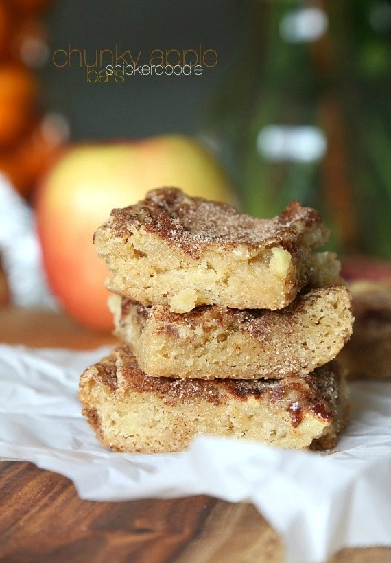 Chunky Apple Snickerdoodle Bars Cookies And Cups