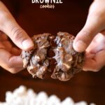 Cream Cheese Brownie Cookies...simple fudgy cookies made with brownie mix!