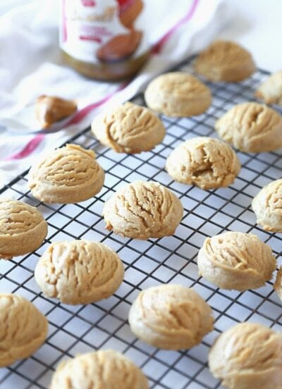 Image of Biscoff Cloud Cookies...Super thick and soft cookies made from Biscoff Spread!
