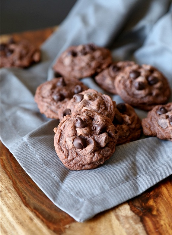 Soft Double Chocolate Pudding Cookies! LOVE these!
