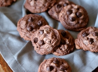 SUPER soft DOuble Chocolate Pudding Cookies!