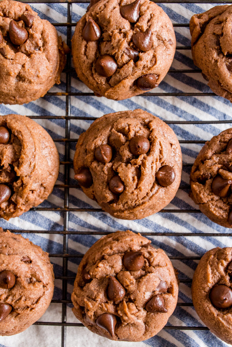 Chocolate Pudding Cookies with two kinds of chocolate!