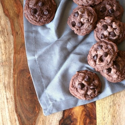 Soft Double Chocolate Pudding Cookies