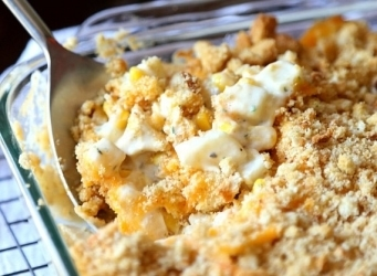 Cheesy Ranch Hash Brown Casserole! SUPER Easy and a family favorite!