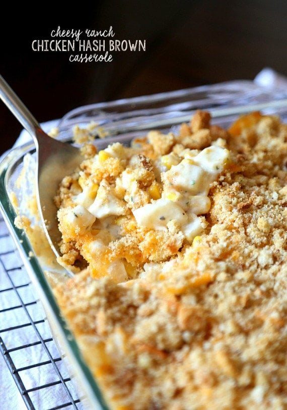 Cookies and Cups Cheesy Ranch Chicken Hash Brown Casserole - Cookies ...