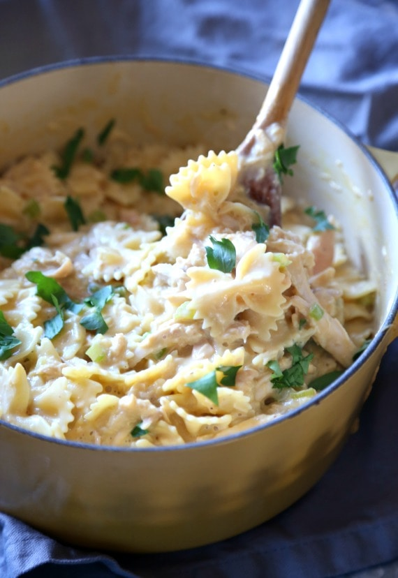 Cheesy Chicken and Bow Tie Pasta...a simple totally yummy weeknight dinner!
