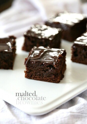 Image of Malted Chocolate Brownies