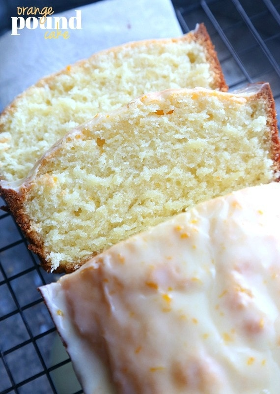 Orange POund Cake...a soft and fluffy pound cake that is flavored with ...