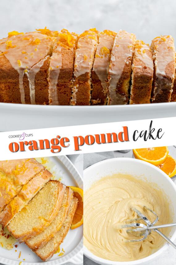Orange Pound Cake Pinterest Image